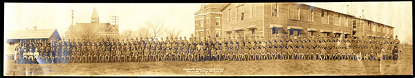 Group photo of Fairmount College's Student Army Training Corps