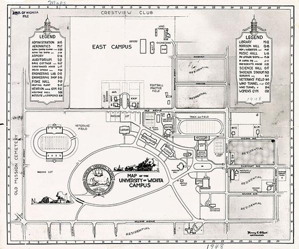 1948 map of WSU buildings