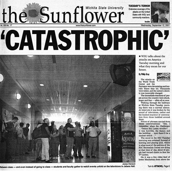 WSU newspaper after September 11, 2001