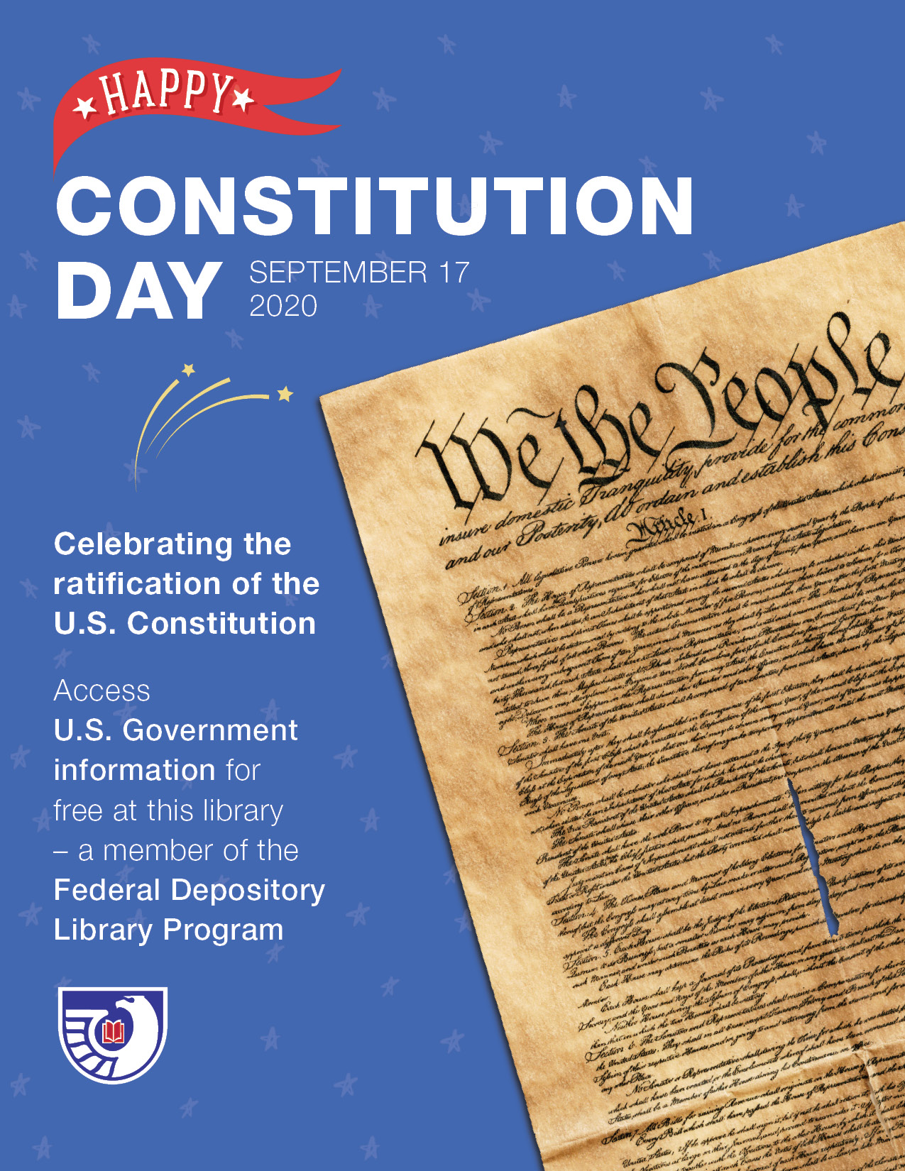 Happy Constitution Day poster