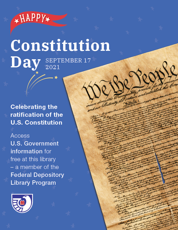 Poster: Happy Constitution Day, September 17, 2021