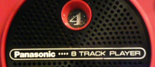 Image of an 8-track player