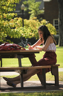Image of woman studying
