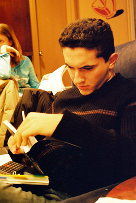 Image of man studying