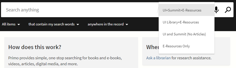 Library Catalog Scopes