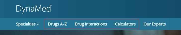 Drug information in the DynaMed database