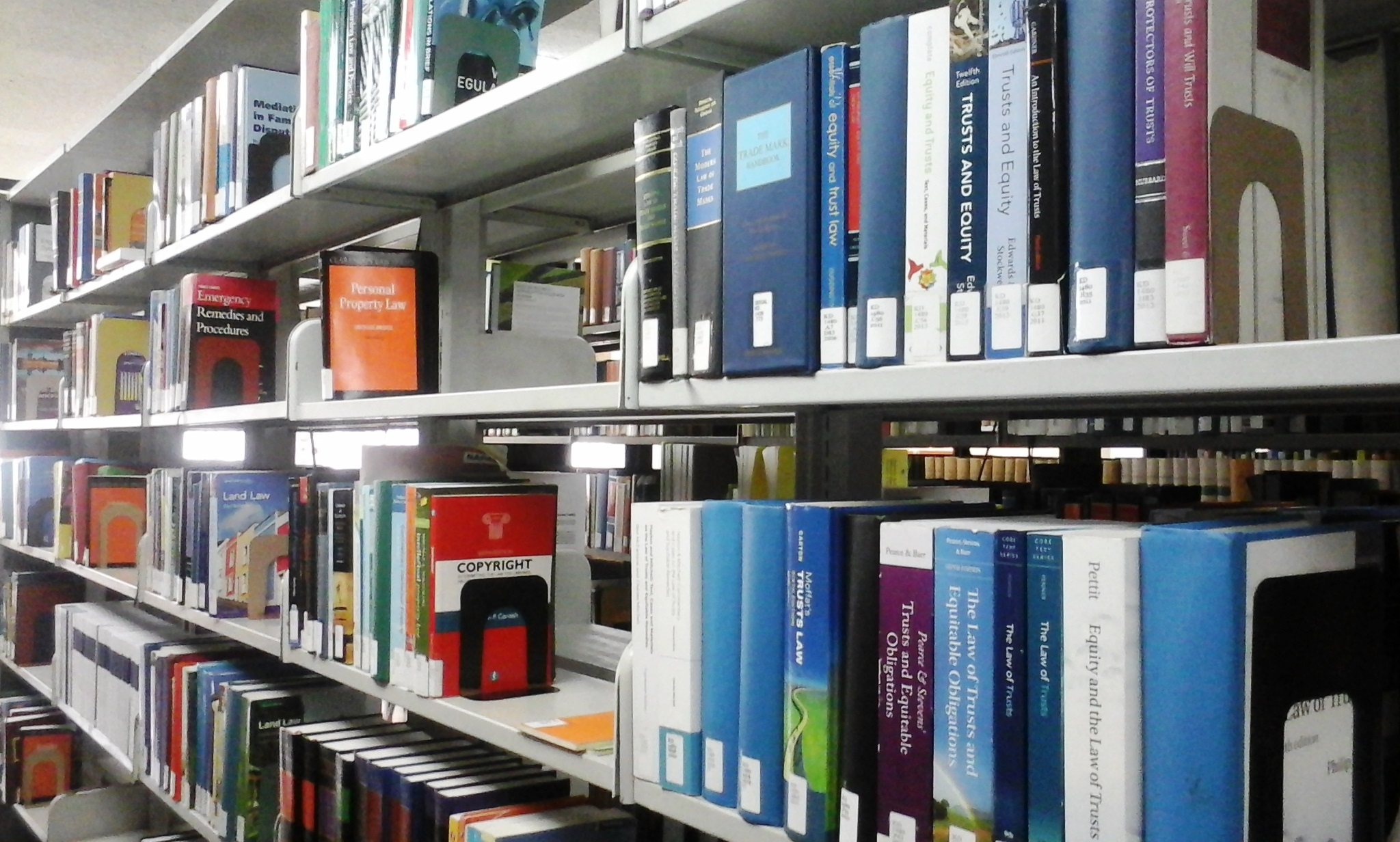 Photo of selected shelves within K section