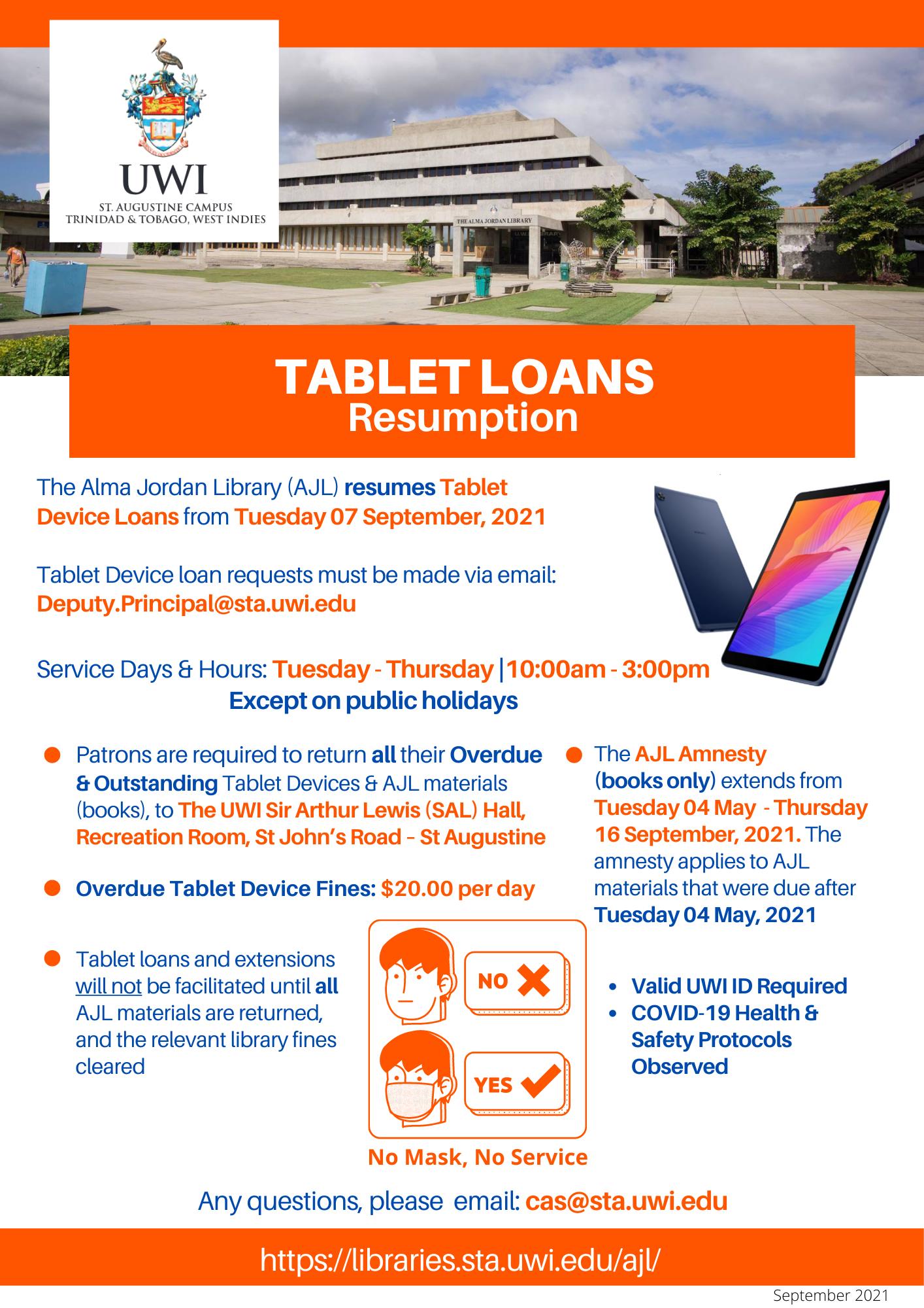 AJL Resumption of Tablet Loans Flyer - Update - Sept 060921