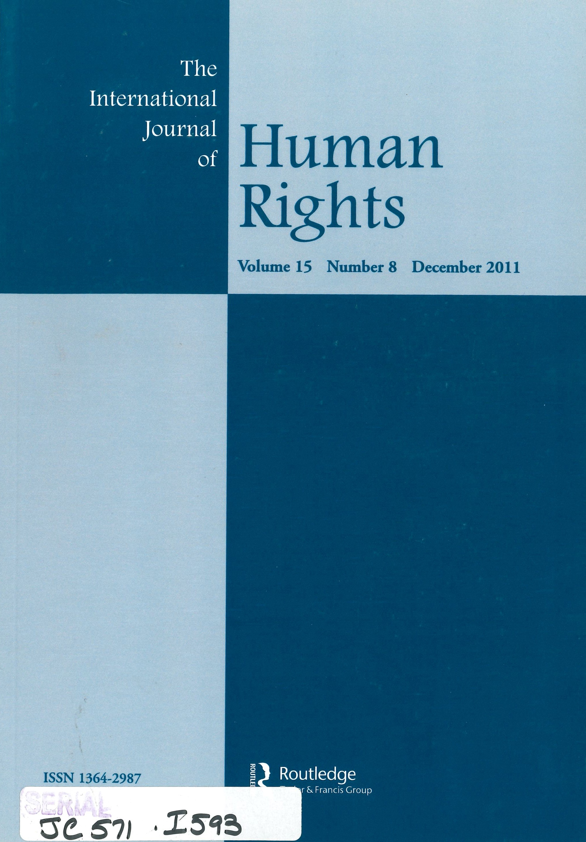 The international journal of human rights.