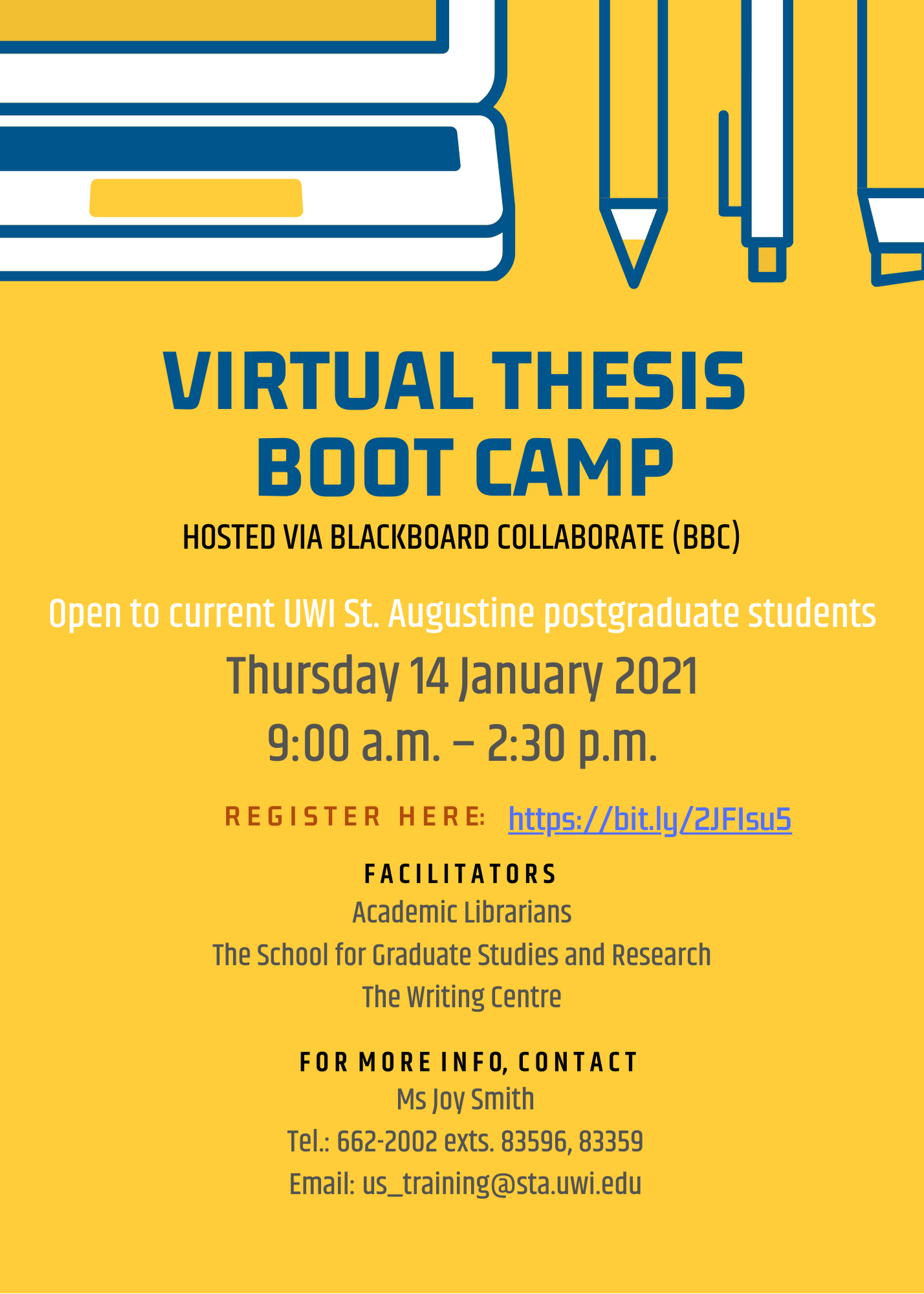 Thesis Boot Camp 2021 Flyer