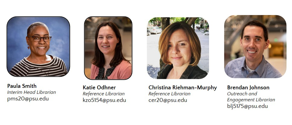 Headshots of 4 Abington Librarians