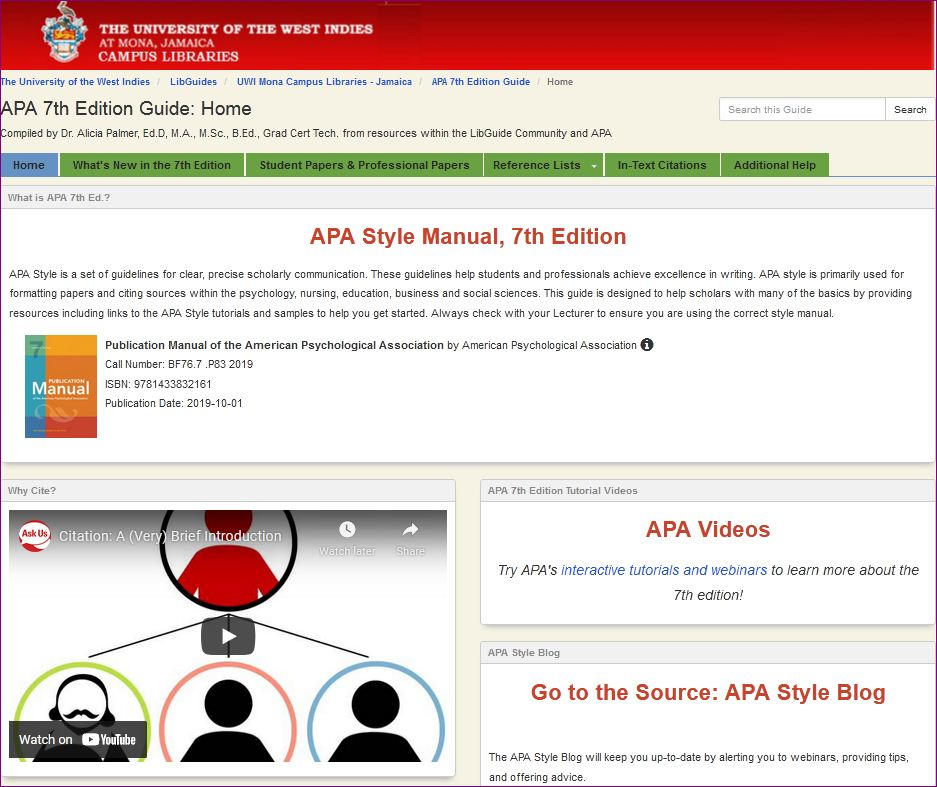 APA 7th edition Guide