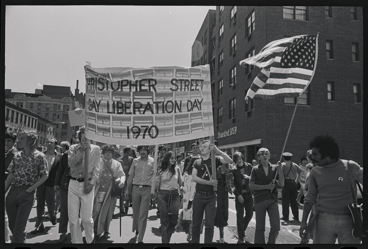 Christopher Street Liberation Day, 1970. Photo by Diana Davies