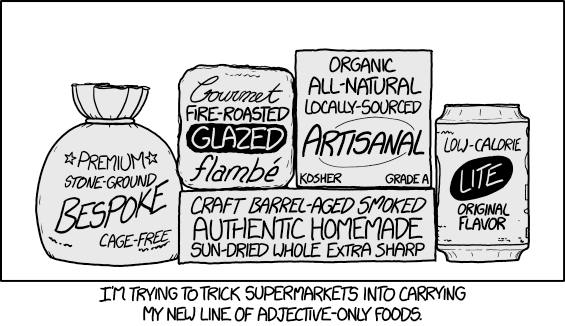 adjective foods comic