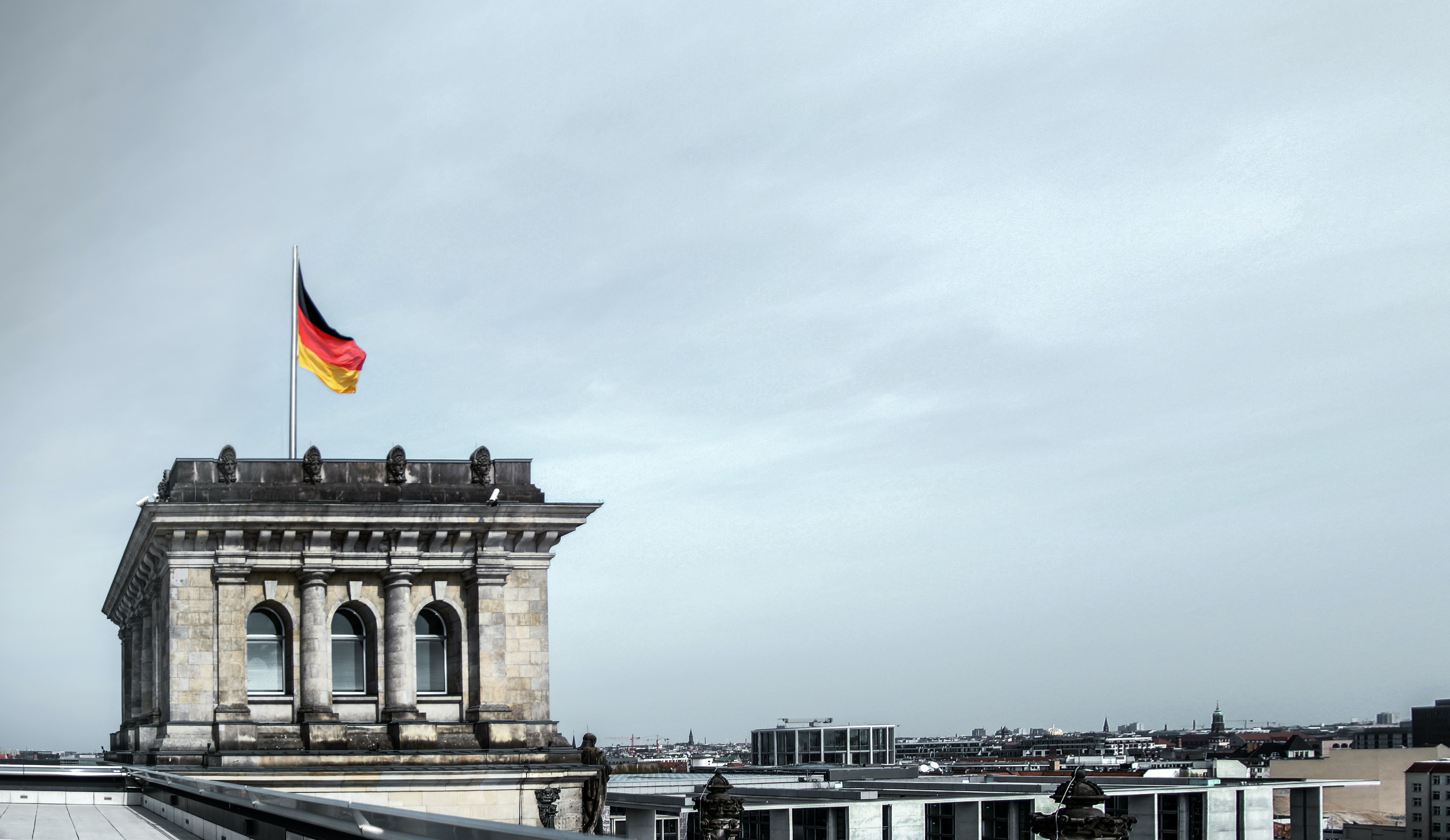 Photo on top of the German Bundestag building