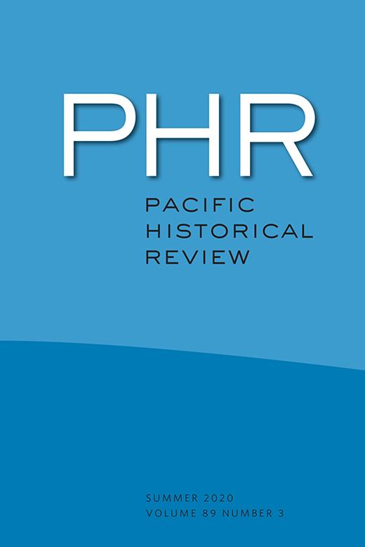 Cover of the Pacific Historical Review