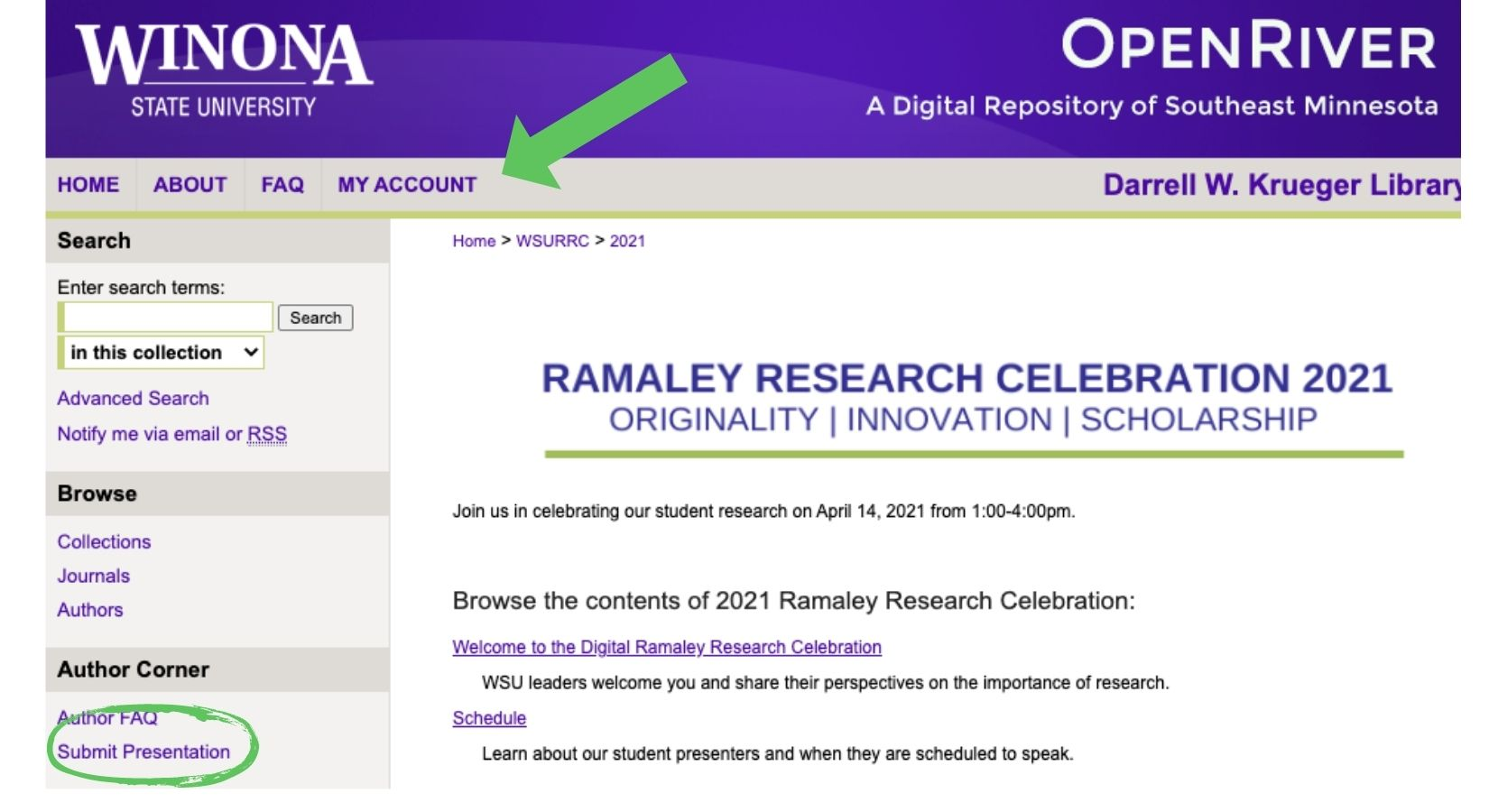 OpenRiver Research Celebration 2021 Login submit