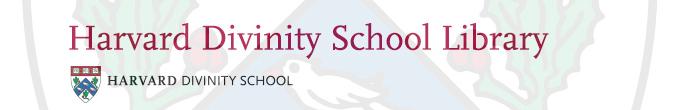 Harvard Divinity School Library logo