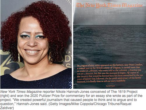New York Times Magazine reporter Nikole Hannah-Jon