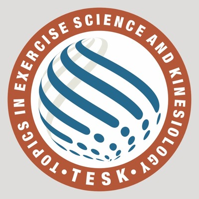 Topics in Exercise and Kinesiology logo in blue and dark orange.