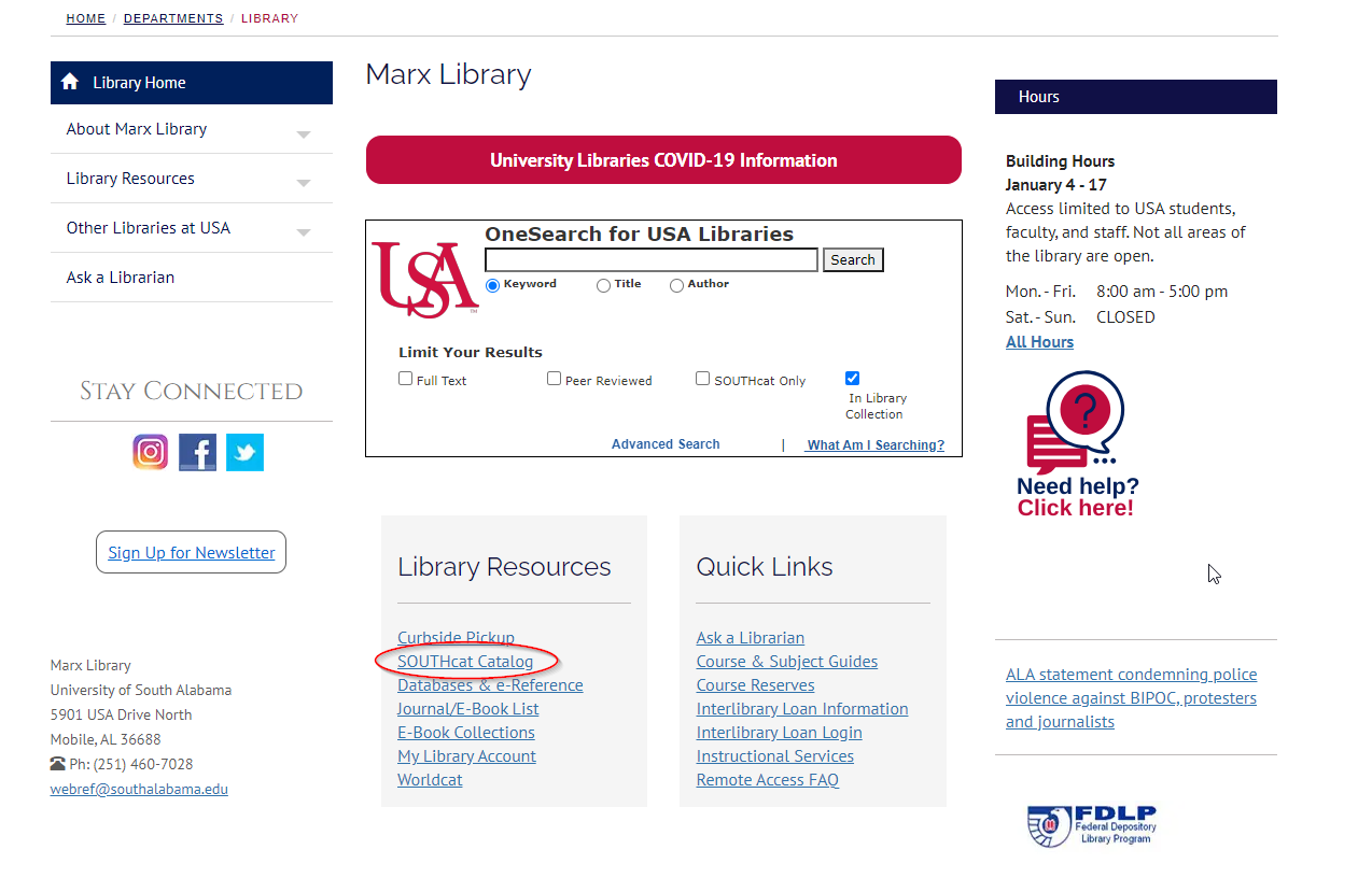 Marx Library homepage
