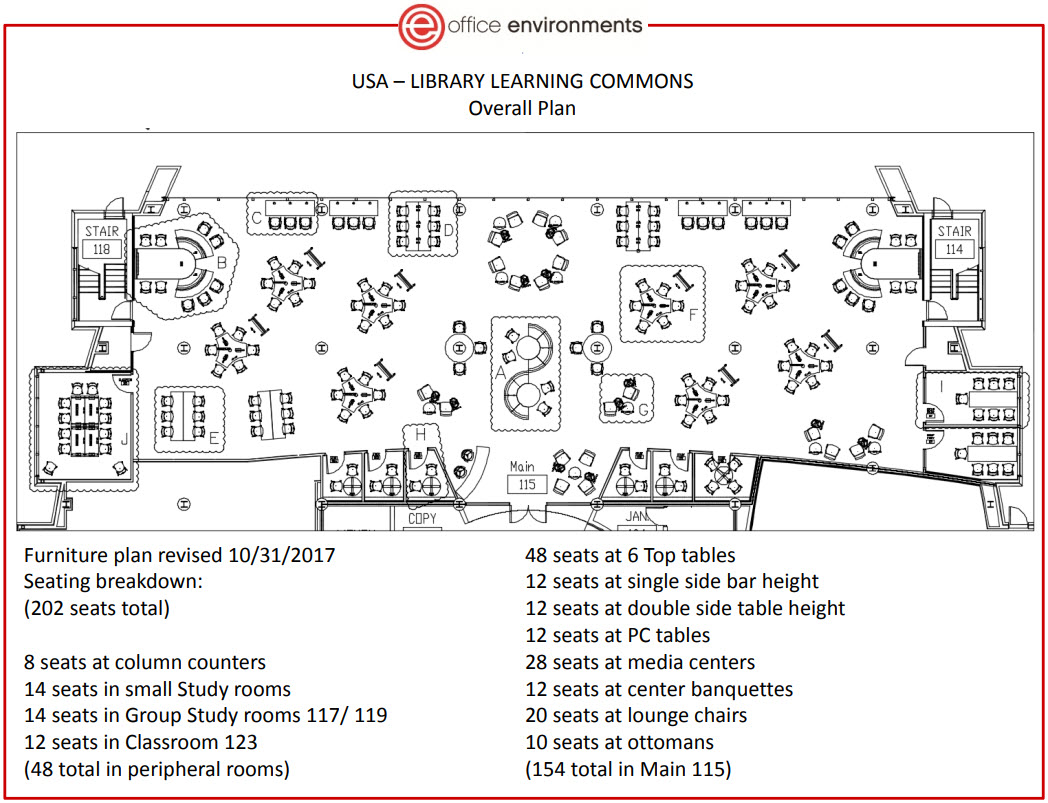 Marx Library Learning Commons plan