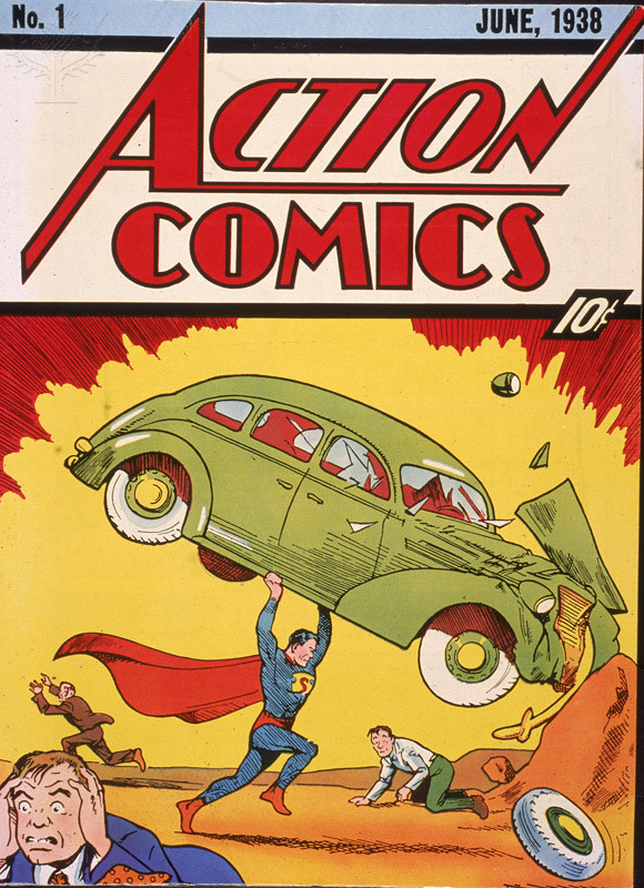 Image photograph of the cover of Action Comics, June 1938