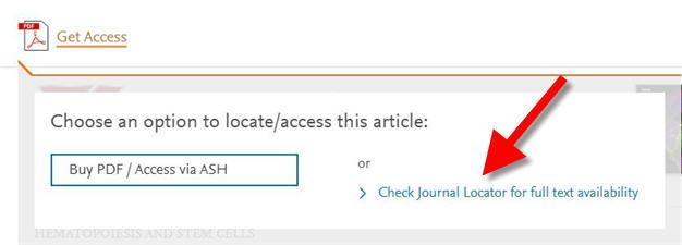 check journal locator link