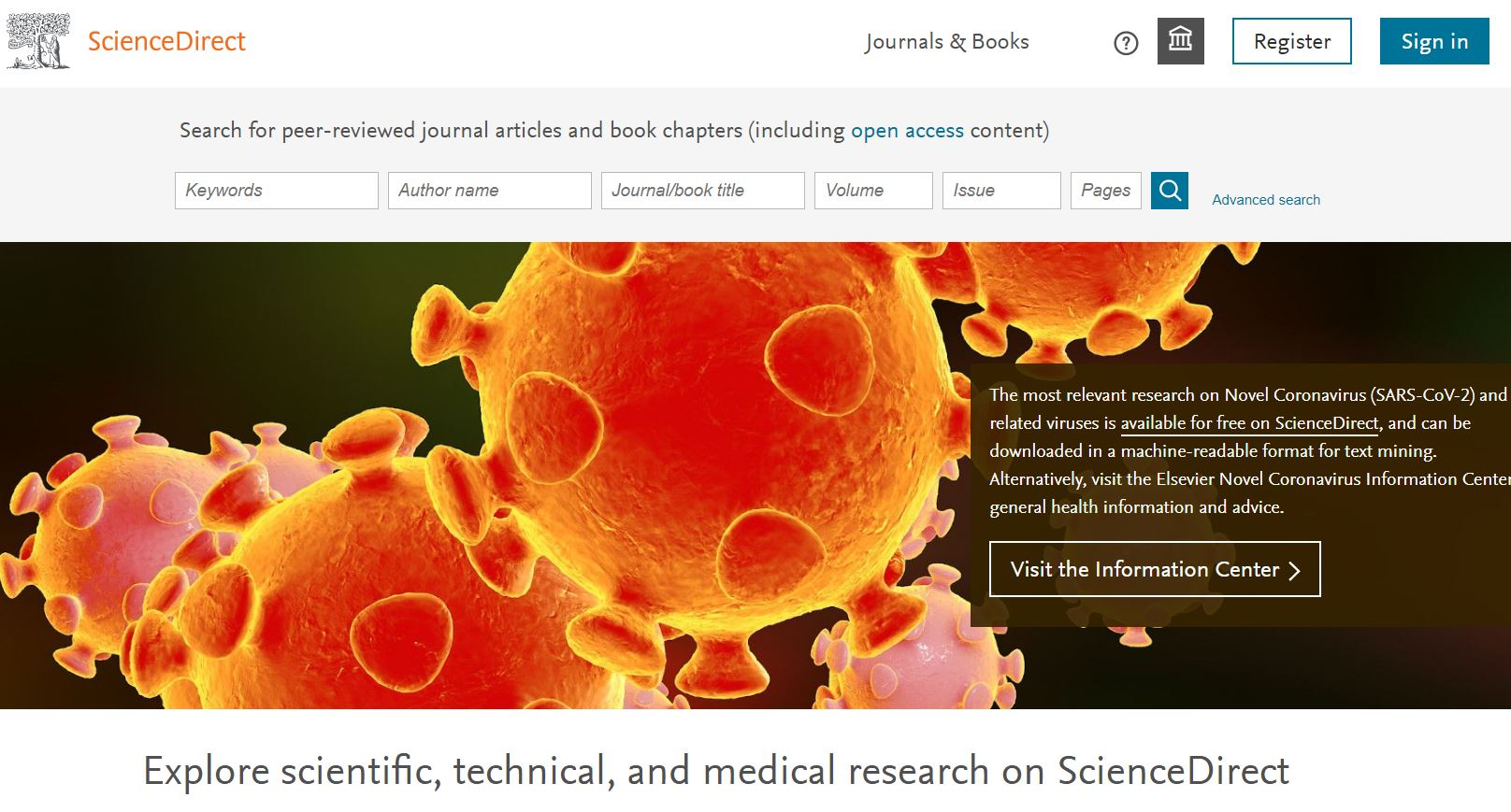 Science Direct screenshot