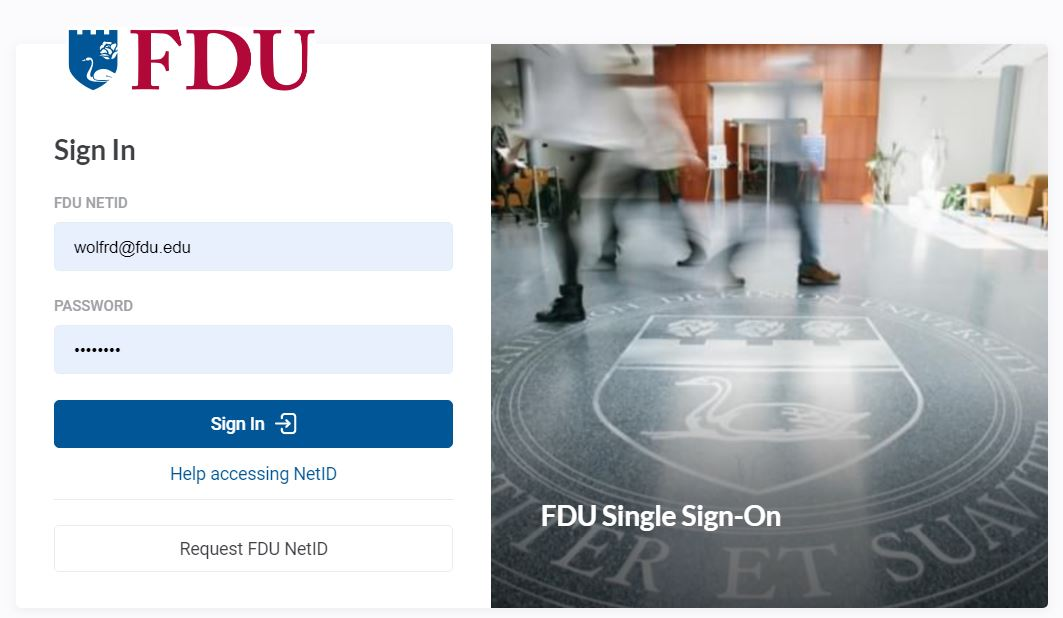 FDU Single Sign On