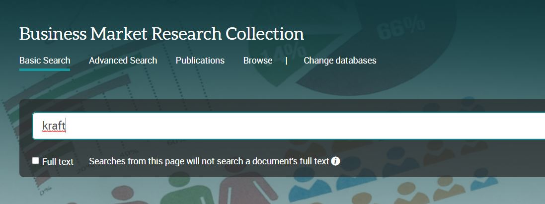 business market research collection search box