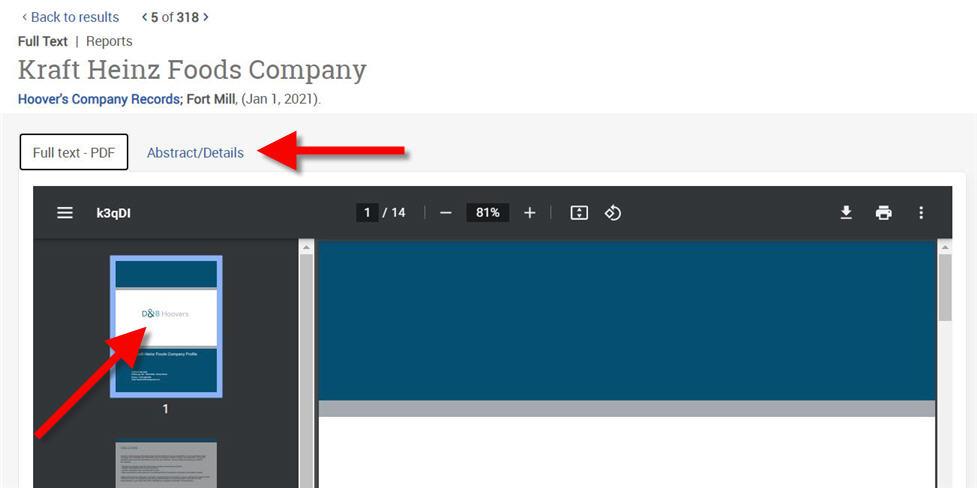 company report record
