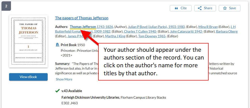 author example