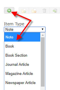zotero item types
