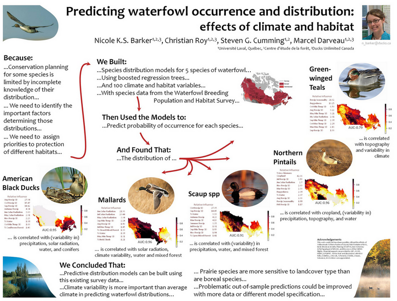 Poster example - predicting waterfowl occurrence