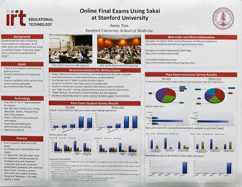 Poster: Online Final Exams using Sakai at Stanford