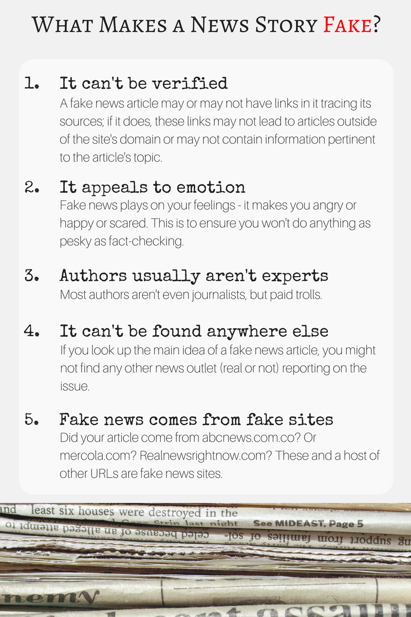 What makes a news story fake?