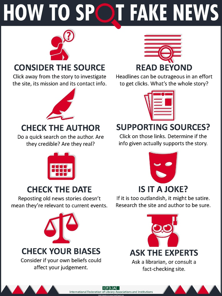 How to Spot Fake News via IFLA