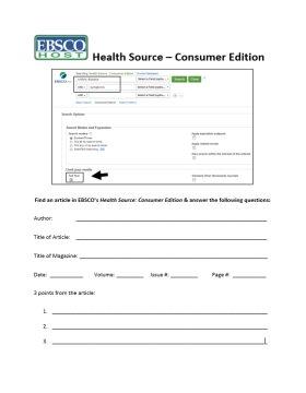health source worksheet
