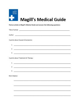 magills worksheet