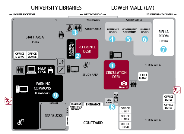 map of lower mall
