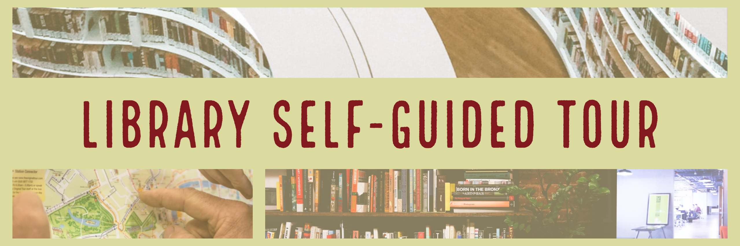 library self-guided tour banner