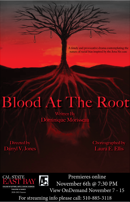 Blood at the Root CSUEB sign with dates