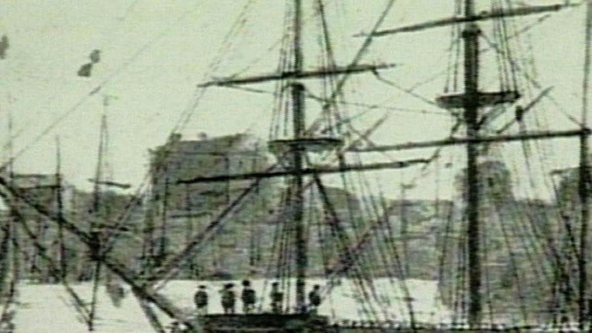 Picture of ship from Charles Darwin's, A Fantastic Voyage