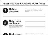 presentation planning worksheet