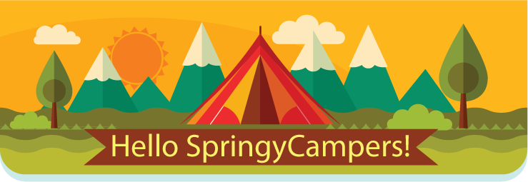 hello springy campers!