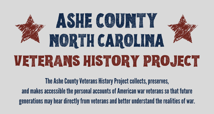 Ashe County Veterans History Project