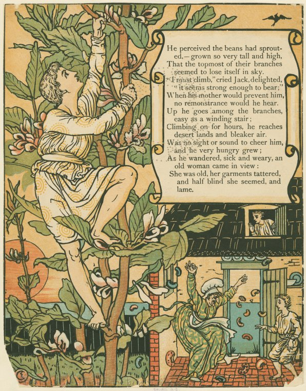 Jack Climbs the Beanstalk by Walter Crane (1898)