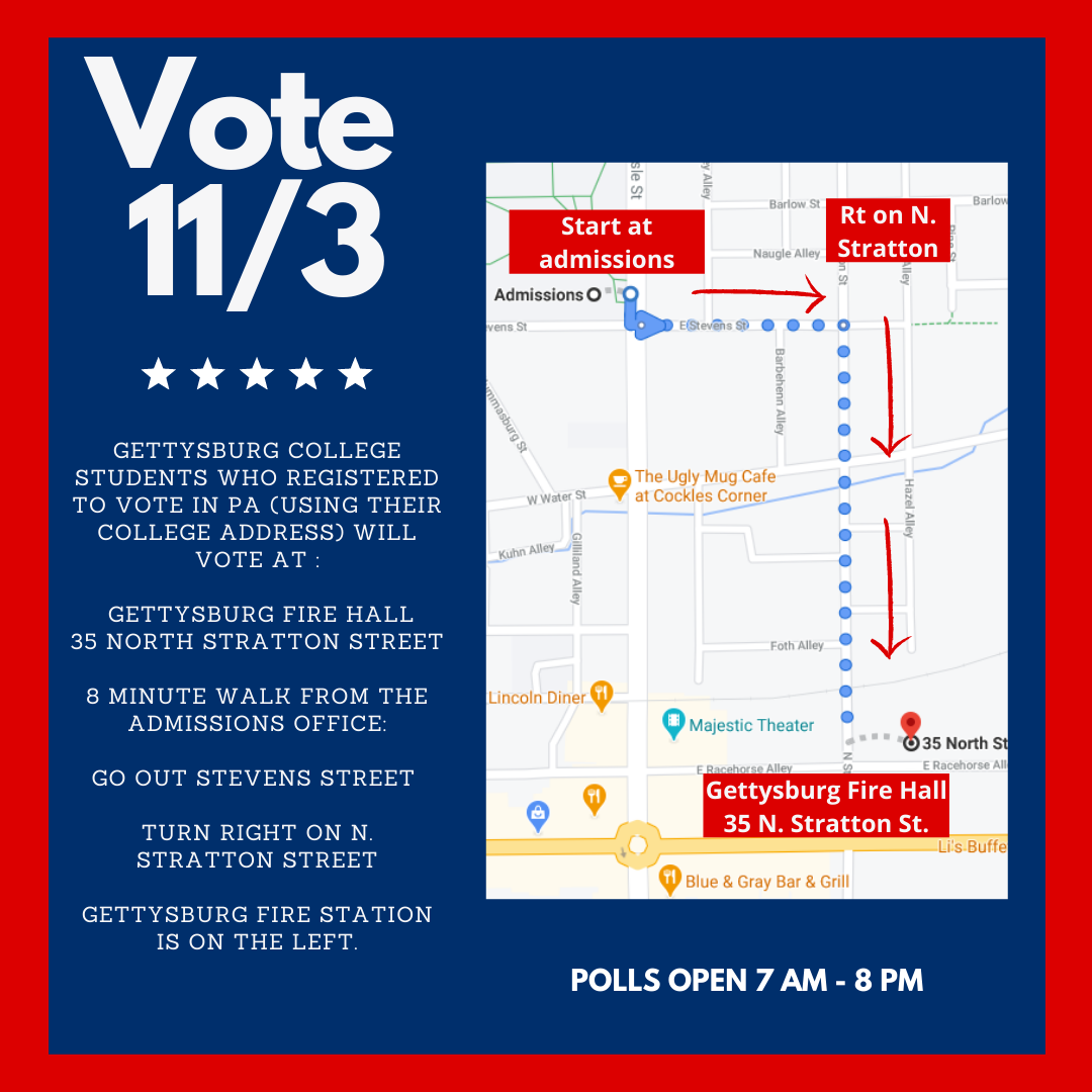 Directions and map to the Fire Department voting location