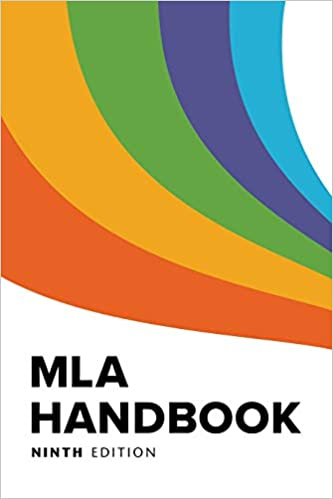 Cover image of the MLA Handbook, 9th edition
